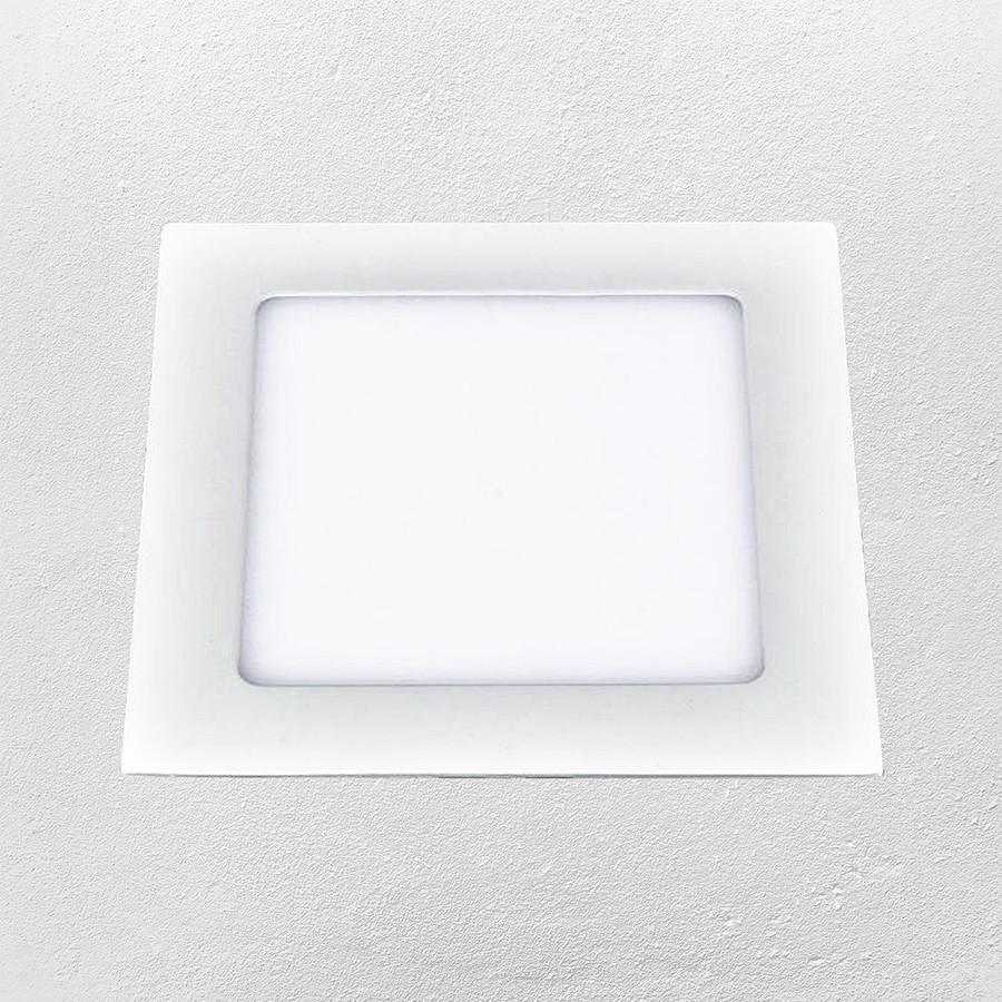Светодиодный LED точечный врезной светильник 6W (квадрат) теплый