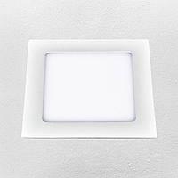 Светодиодный LED точечный врезной светильник 15W (квадрат) холодный