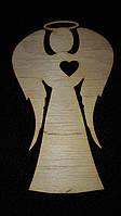 """Заготовка из дерева для разрисовки """"Ангелочек с сердцем"""" 6,5*10,7см, 12/8 (цена за 1 шт. + 4 грн.)"""