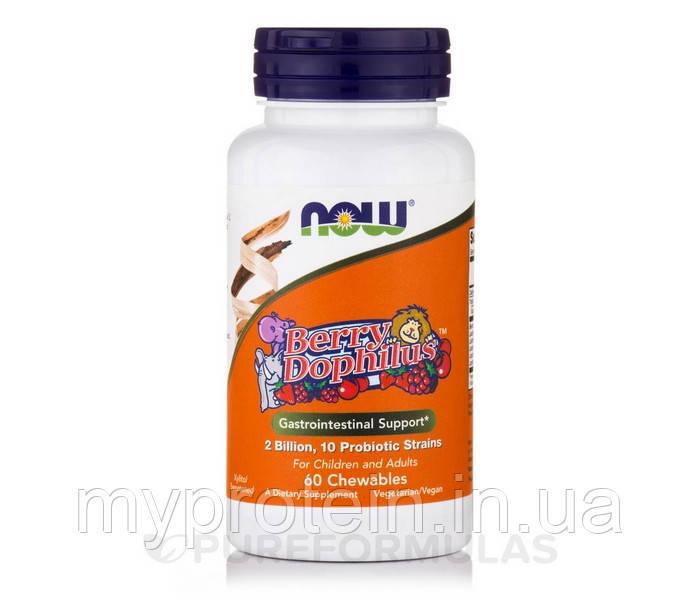 Натуральный пробиотический препарат для детей с лакто- и бифидобактериями Berry Dophilus (60 chewables)