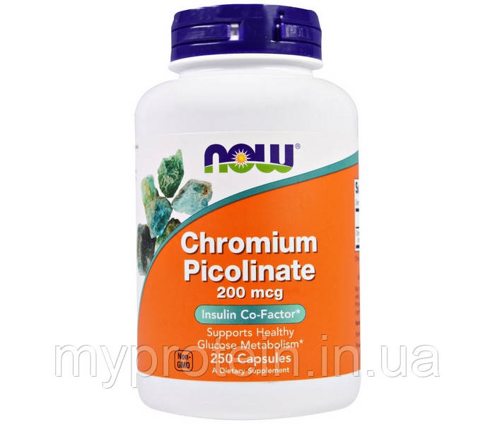 NOW Хром пиколинат Chromium Picolinate 200 mcg (250 caps)