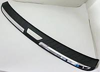Honda CR-V 2013+  накладка защитная на задний бампер ABS пластик