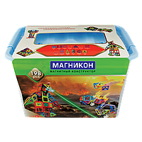 3-D магнитный конструктор МАГНІКОН в пластиковой упаковке 198 дет. МАГНІКОН (МАГНИКОН) МК-198