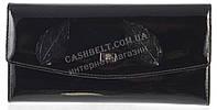 Классический оригинальный женский кожаный кошелек высокого качества WILDNESS art.2447-C35 черный лак, фото 1