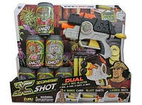 X-Shot Детский бластер Dual Зомби, два вида оружия (6 банок, 4 дартса, 6 дисков) ТМ Zuru 01163