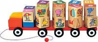 """Автомобиль - кубики с алфавитом (деревянная каталка + кубики) ТМ """"Игрушки из дерева"""" Д249"""