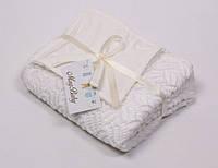 Ажурный вязанный плед молочный на хлопковой основе для новорожденного (90*80 см) ТМ MagBaby Разноцв. 101901