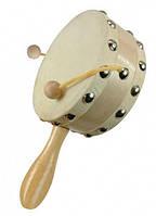 Барабан с ручкой (детский деревянный музыкальный инструмент) ТМ Bino 86551