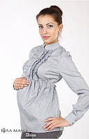 Блузка для беременных Michele р. 44-50 ТМ Юла Мама Серый N14-7.10.2