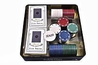 Набор для игры в покер в оловянном кейсе, 100 фишек.