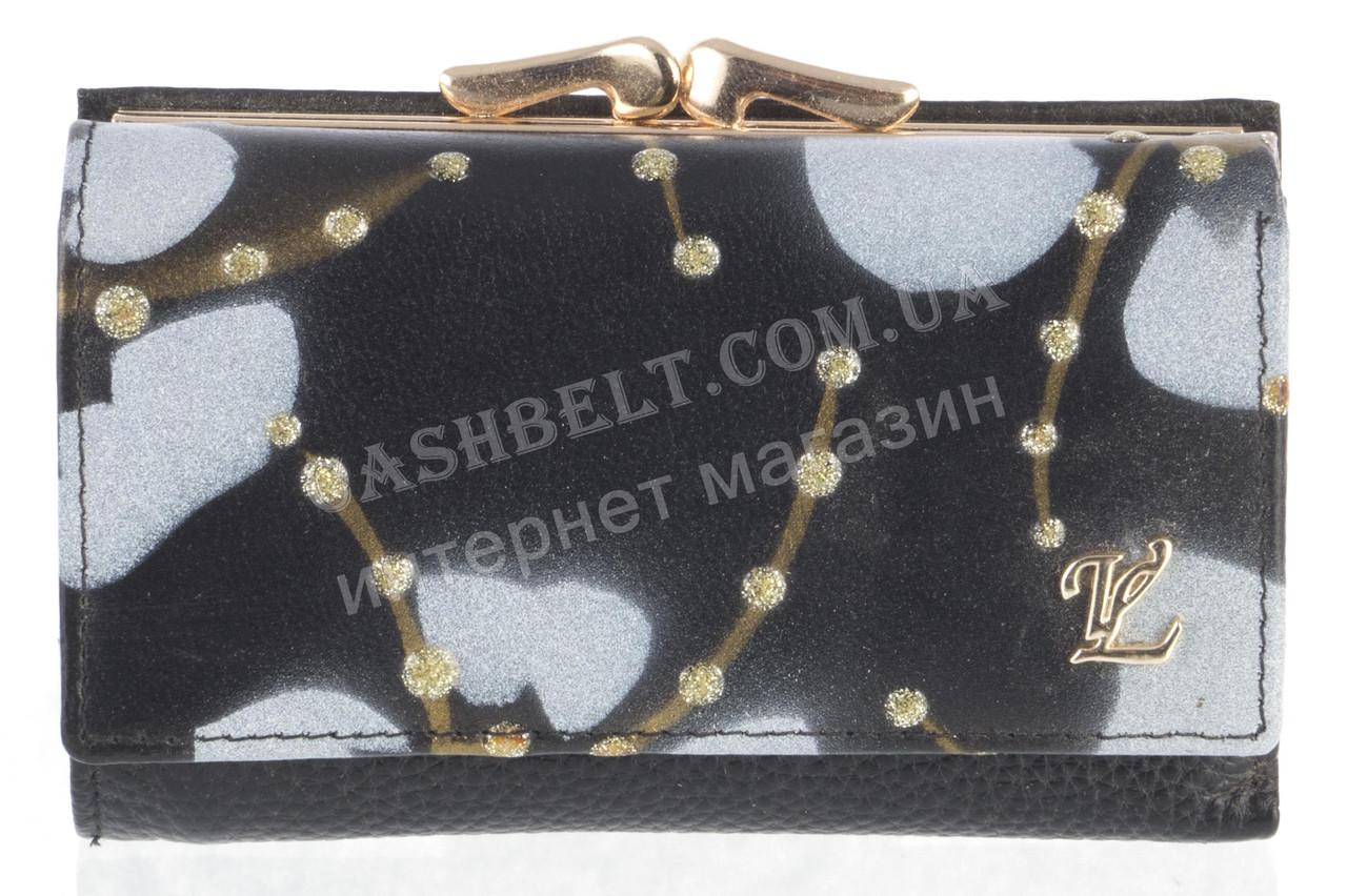 Компактный оригинальный женский кожаный кошелек высокого качества LOUI VEARNE art. LOU044-03A черный