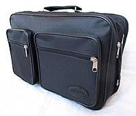 Мужская сумка Wallaby 2640 черная барсетка через плечо папка портфель А4 35х24х15см