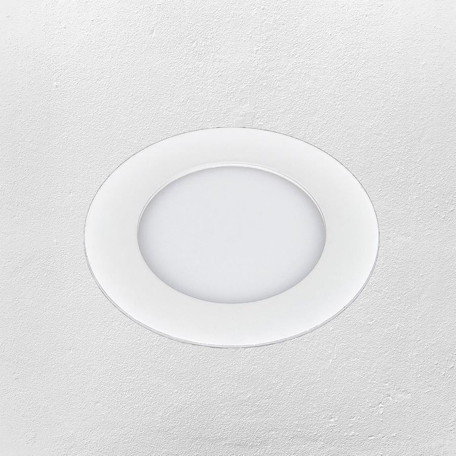 Светодиодный LED точечный врезной светильник 4W (круг) теплый