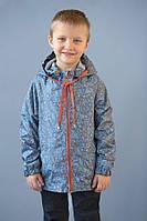 Ветровка морская для мальчика 2-5 лет, р. 92-110 ТМ Модный карапуз Серый 03-00634-1