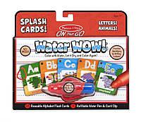 """Волшебный водный набор-раскраска """"Алфавит"""" (Water Wow! Splash Cards Alphabet) ТМ Melissa & Doug MD5236"""