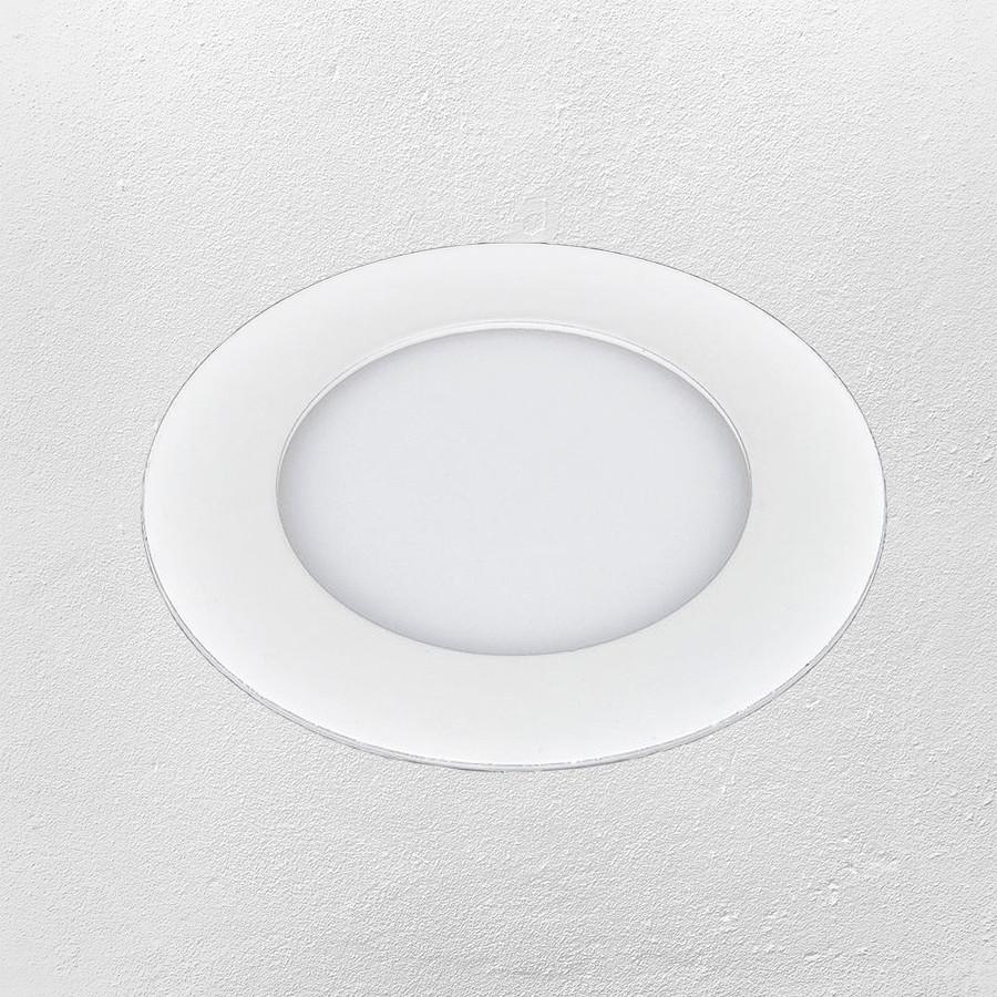 Светодиодный LED точечный врезной светильник 15W (круг) теплый