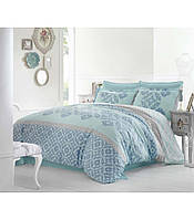 Комплект постельного белья сатин размер евро Altinbasak Alona mavi