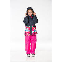 Демисезонный комплект 3 в 1 для девочки от 2 до 10 лет (куртка, кофта, штаны, шапка) ТМ Deux par Deux PF52-999