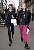 Женская Кожанная Модная курточка в Роковом Стиле