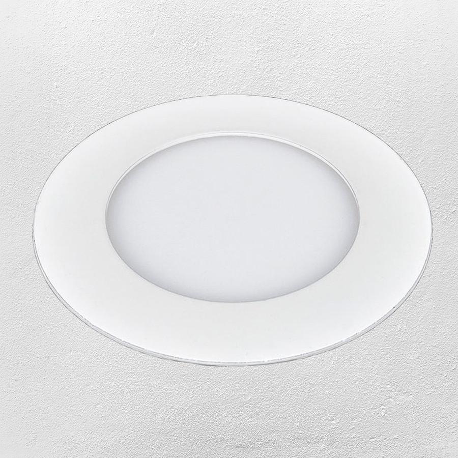 Светодиодный LED точечный врезной светильник 24W (круг) теплый