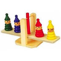 """Деревянная игрушка Весы пирамидки ТМ """"Игрушки из дерева"""" Д009"""