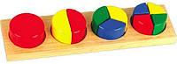 """Деревянная игрушка Дроби малые №1 """"Круг"""" в картонной коробке ТМ """"Игрушки из дерева"""" Д144"""