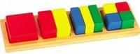 """Деревянная игрушка Дроби малые №2 """"Квадрат"""" ТМ """"Игрушки из дерева"""" Д145"""
