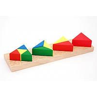 """Деревянная игрушка Дроби малые №3 """"Треугольник"""" ТМ """"Игрушки из дерева"""" Д146"""