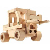 """Деревянная игрушка Конструктор Автопогрузчик в картонной коробке ТМ """"Игрушки из дерева"""" Д023"""