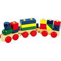 """Деревянная игрушка Конструктор паровозик в картонной коробке ТМ """"Игрушки из дерева"""" Д018"""