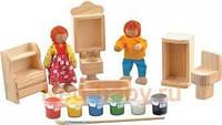 """Деревянная игрушка Набор для творчества """"Ванная комната"""" в упаковке ТМ """"Игрушки из дерева"""" Д246"""