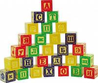 """Деревянная игрушка Набор кубиков №3 (28 штук) ТМ """"Игрушки из дерева"""" Д175"""