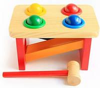 """Деревянная игрушка Стучалка-горка """"Шарики"""" ТМ """"Игрушки из дерева"""" Д142"""