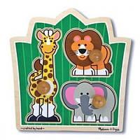 """Деревянная рамка-вкладыш """"Друзья из джунглей"""" (формовой пазл) Melissa & Doug MD3375"""