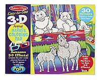 """Детская 3D раскраска """"Животные и растения"""" (3D Coloring Book - Animals) ТМ Melissa & Doug MD9965"""