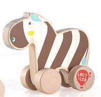"""Детская деревянная игрушка-каталка """"Зебра"""" в коробке ТМ Lucy&Leo LL118"""
