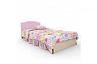 """Детская деревянная кровать """"Kiddy 3"""" без ящиков (120х190 см) ТМ Вальтер-С Венге/Розовый KK-1.12.8"""
