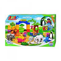 Конструктор для малышей Зоопарк 60 деталей