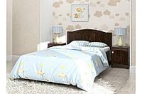 """Детская деревянная кровать """"Мишка 1"""" без ящиков (120x190 см) ТМ Вальтер-С Орех темный KM-4.12.4"""