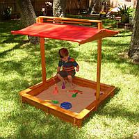 Детская деревянная песочница с крышкой ТМ SportBaby Песочница - 5