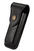 Чехол для ножа из первосортной кожи черный XL