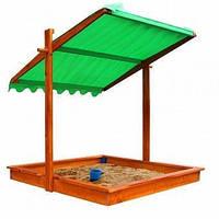 Детская деревянная песочница с тентом - крышкой ТМ SportBaby Песочница - 22
