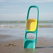 """Детская игрушка Лопатка """"SСOPPI"""" з ситом для песка та снега ТМ Quut Зеленый+желтый 170204"""