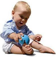 Детская игрушка Мокс мячик марионетка (3 шт в упаковке) ТМ Moluk Голубой 43360