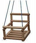 Детская подвесная качеля ТМ SportBaby Натуральное дерево sport-18