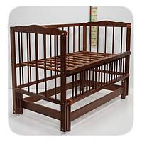 """Детская кроватка для новорожденных """"Малятко"""" без ящика ТМ Колисковий світ Яблоня 100010035"""
