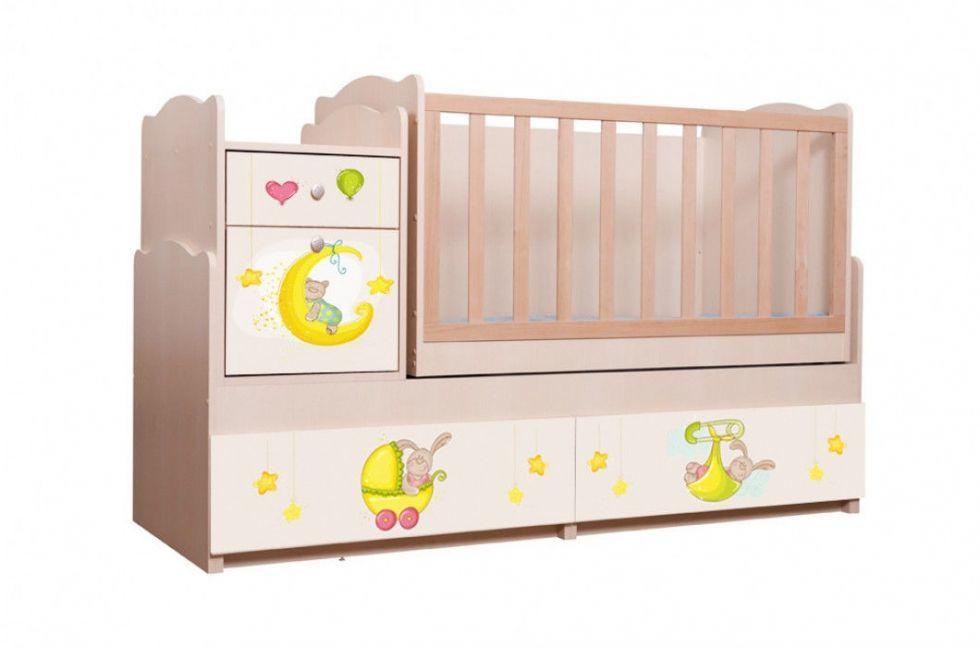 "Дитяче ліжко - трансформер фотодрук ""Зайчики"" 5 в 1 ТМ Вальтер-С Венге світлий TR-5"