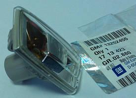 Повторитель сигнала поворотов на переднем левом крыле (инд. AS) с серым профилем (без патрона и лампочки) GM