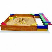Детская песочница из дерева с отделением для игрушек ТМ SportBaby Песочница - 6