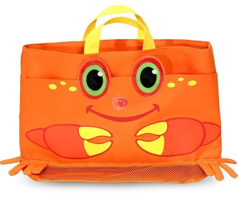 "Детская пляжная сумочка ""Мистер Краб"" (Clicker Crab Beach Tote Bag) ТМ Melissa & Doug оранжевый MD6419"